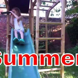 Summer Happiness is a Climbing Frame with Swings and a Slide that Lasts