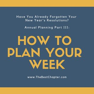 Plan Your Week (Pre-Rec)