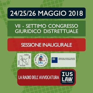 Settimo Congresso Giuridico Distrettuale - Sessione Inaugurale