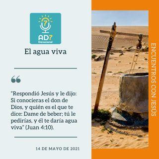 14 de mayo - El agua viva - Devocional de Jóvenes - Etiquetas Para Reflexionar