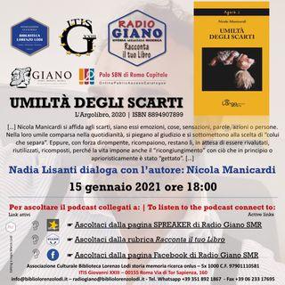 Nadia Lisanti dialoga con l'autore: Nicola Manicardi | Umiltà degli scarti