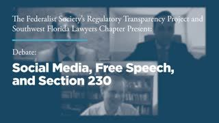 Debate: Social Media, Free Speech, and Section 230