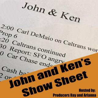 John and Ken's Show Sheet