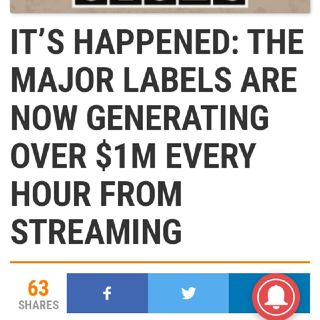 Major Labels Earn $1M Every Hour From Artists