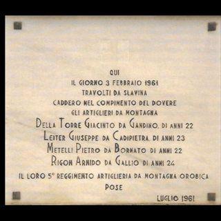 03 febbraio 1961 - la valanga del Resia - intervista a Giovanni Savio