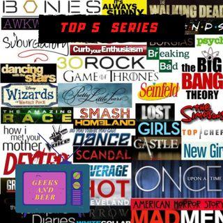 # geeks and beers -  Top de series de Ninjacow