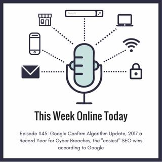 """Episode #45: Google Confirm Algorithm Update, 2017 a Record Year for Cyber Breaches, and the """"easiest"""" SEO wins by Google"""