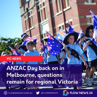 ANZAC Day back on in #Melbourne but what about regional Victorian commemorations? with @CoalitionVic and @TheNationalsVic's Tim Bull