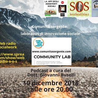 Comunità sorgente: laboratori d'innovazione sociale