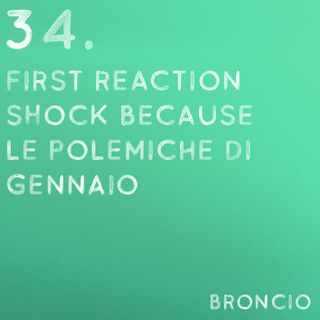 34 - First Reaction Shock Because, polemiche di gennaio