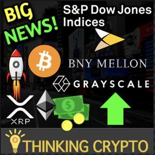 S&P Down Jones New Crypto Indices & Grayscale BNY Mellon Partner For Bitcoin ETF