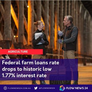 Record low interest rates for Australian federal farm loans