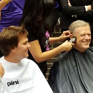 Gov. Charlie Baker Gets Buzz Cut With Tom Brady For Charity