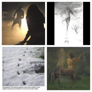 A Sleek Hairy Man Who Looked Like a Centaur and a Dogman With Red Eyes, Claws and Hooves