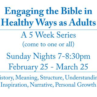 Engaging the Bible in Healthy Ways as Adults - What Approaches Can We Take