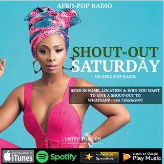 Shout-Out Saturday - Episode 1