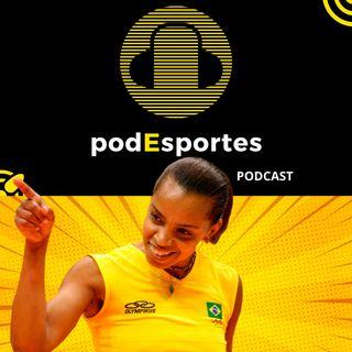 Fofão do vôlei no podEsportes