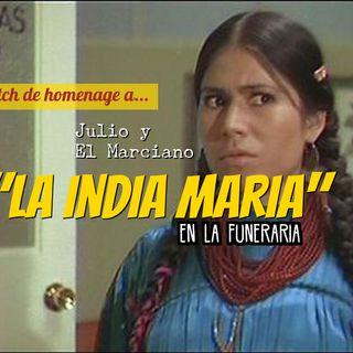 Sketch de homenaje a la India Maria en su funeral