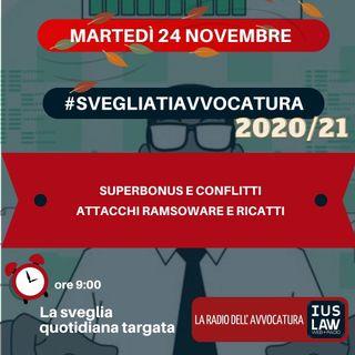 SUPERBONUS E CONFLITTI – ATTACCHI RAMSOWARE E RICATTI – #SVEGLIATIAVVOCATURA