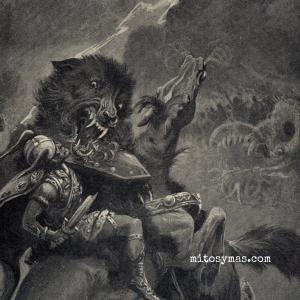 Fenrir el lobo que devorará al mundo.