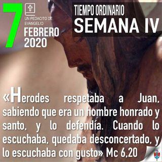 """Homilía 7 Febrero 2020 - De cómo la """"diosa Mentira"""" logró que Juan fuera decapitado"""