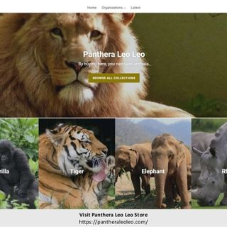 Panthera Leo Leo Store - Purchase Products and Save Animals
