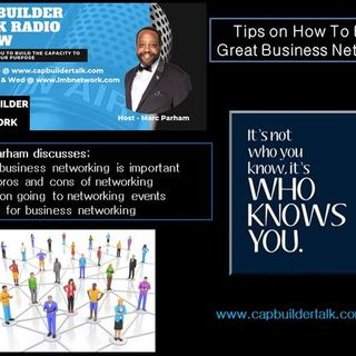 CAPBuilder Talk - How to get the most out of business networking