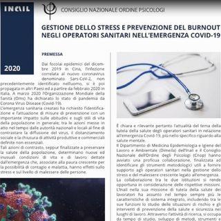 Prevenire il burnout per gli operatori sanitari: iniziativa Inail-Cnop