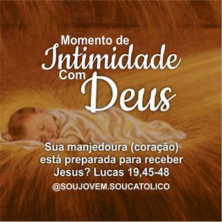#13 - Momento De Intimidade Com Deus - Sua manjedoura (coração) está preparada para receber (Lucas 19,45-48)