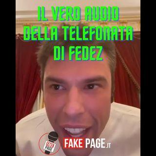 Il vero audio della telefonata di Fedez