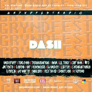 [10/2] @Dash_Radio #XXL : #GryndfestRadio #TakerOver Guest Djs Vol 43rd #dinnerland #theearplugs