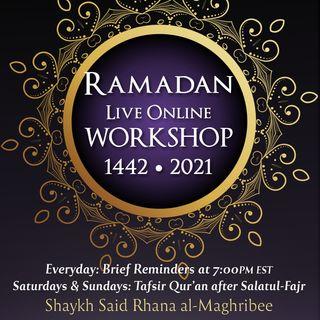 01 Ramadan Workshop 1442/2021