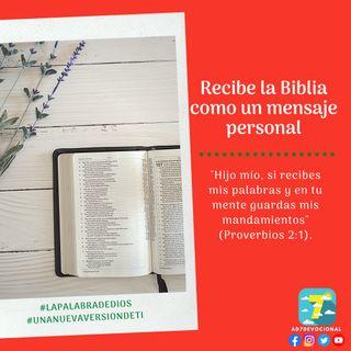 2 de diciembre - Recibe la Biblia como un mensaje personal - Una Nueva Versión de Ti 2.0 - Devocional de Jóvenes