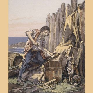 """Der Roman """"Robinson Crusoe"""" erscheint (am 25.04.1719)"""