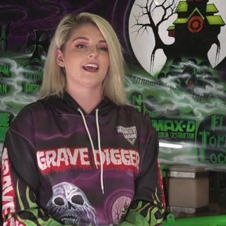 Sports of All Sorts: Monster Jam Grave Digger driver KrystenAnderson
