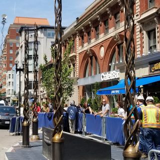 Boston Marathon Bombing Memorial Unveiled On Boylston Street