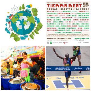 Hasta las Manitas, Feria de la Nieve, Reciclaje/Trueque, Semifinales UCL, Tierra Beat, Día Internacional de la Tierra, Maratón Boston 2019