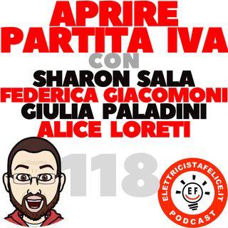118 Aprire Partita IVA con Alice Loreti, Sharon Sala, Federica Giacomoni e Giulia Paladini