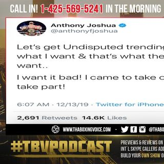 ☎️Anthony Joshua Finally Wants Undisputed🔥 That's What I Want & What The People Want❗️