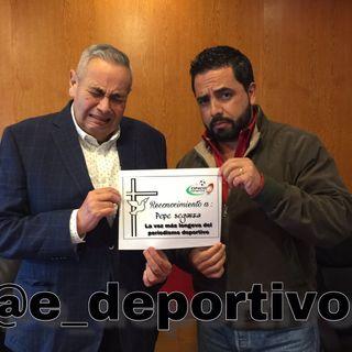 Hicimos entrega del Reconocimiento a Pepe Segarra en Espacio Deportivo de la Tarde 21 de Noviembre 2018