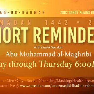 02 Ramadan 1442 2021 Short Reminders
