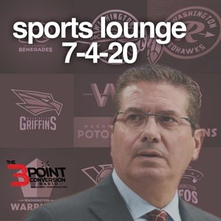 The 3 Point Conversion Sports Lounge- Time For Name Change Washington, Makur Maker & HBCU, 2nd NBA Bubble, Is The NBA & NFL Genuine