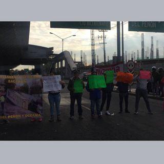 Manifestantes bloquean Av. Oceanía