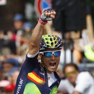 Valverde tras victoria en etapa 16 Giro