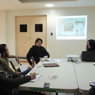 Benvenuto Chavajay, sesión con alumnos del Laboratorio de Arte Contemporaneo