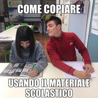 #cremona Captain Marvel copiava a scuola!
