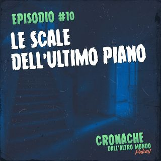 Le scale dell'ultimo piano
