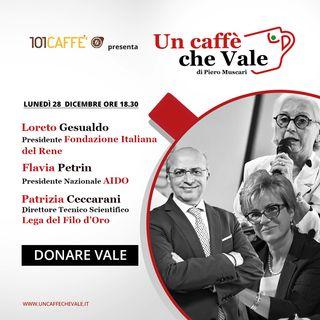 Loreto Gesualdo, Flavia Petrin, Patrizia Ceccarani: Donare vale