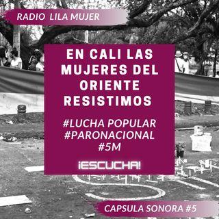 Càpsula 5. Mayo 5 Paro Nacional Colombia. En Cali las mujeres del Oriente resistimos