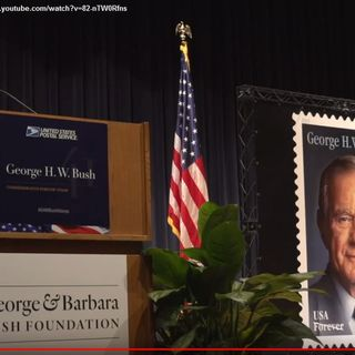 Unveiling of George H.W. Bush Forever stamp
